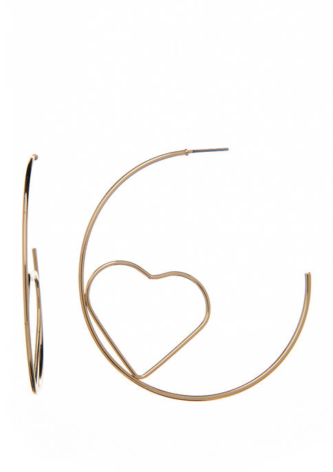 Open Backed Hoop with Heart