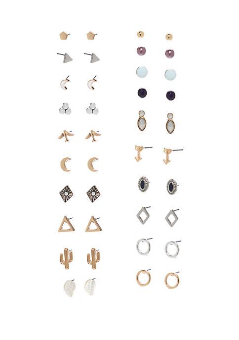 20 Pack Multi Earring Set