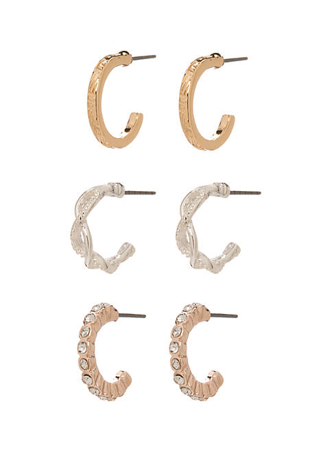 Multi Hoop Earring Set of 3