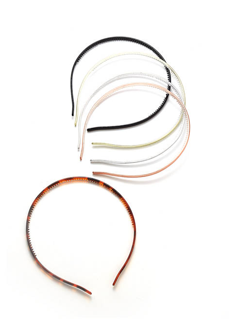5 Pack Skinny Headbands