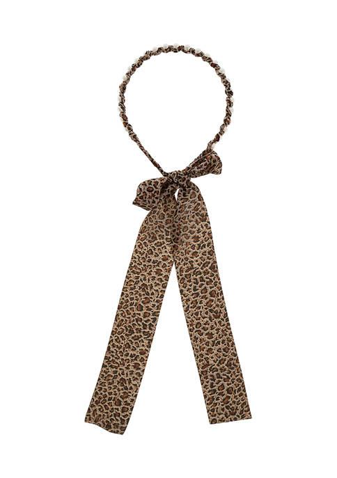 Leopard Fabric Covered Headband