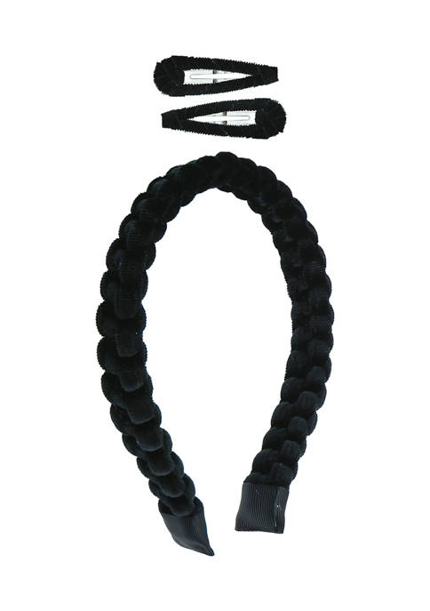 3 Piece Velvet Headband Set