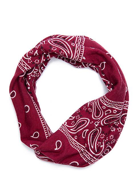 Wide Bandanna Print Jersey Head Wrap