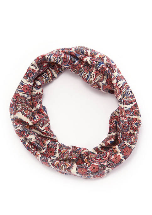 Mixed Floral Print Tubular Wide Headwrap