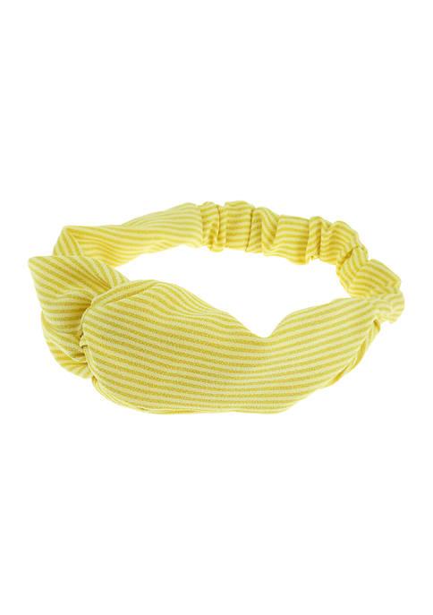 Wide Stripe Tubular Twist Head Wrap