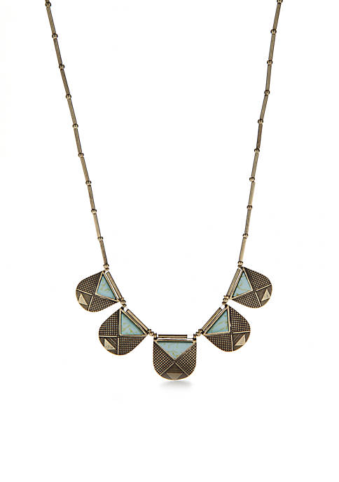 Turquoise Triangle Collar Necklace