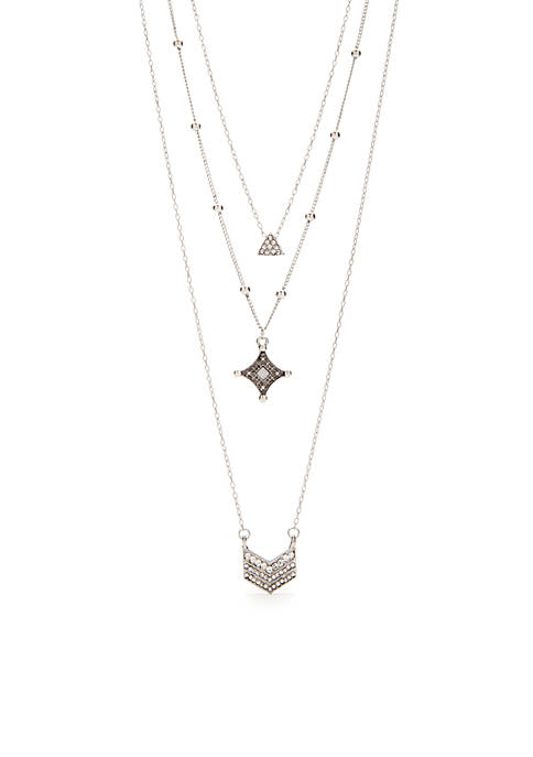 Silver-Tone By The Beach Star Casing Pendant Necklace