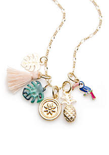 Gold-Tone Summer On The Ranch DIY Charms Necklace