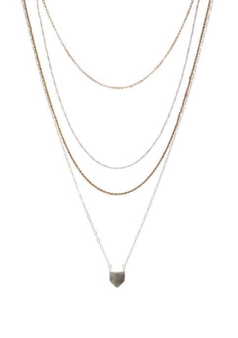 Necklace With Plastic Pendant