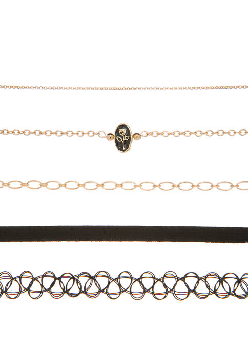 5 Piece Choker Necklace Set