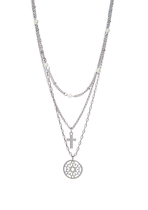 3 Row Layered Necklace