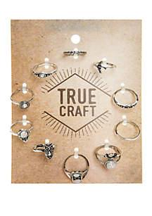 10-Piece Single Ring Set