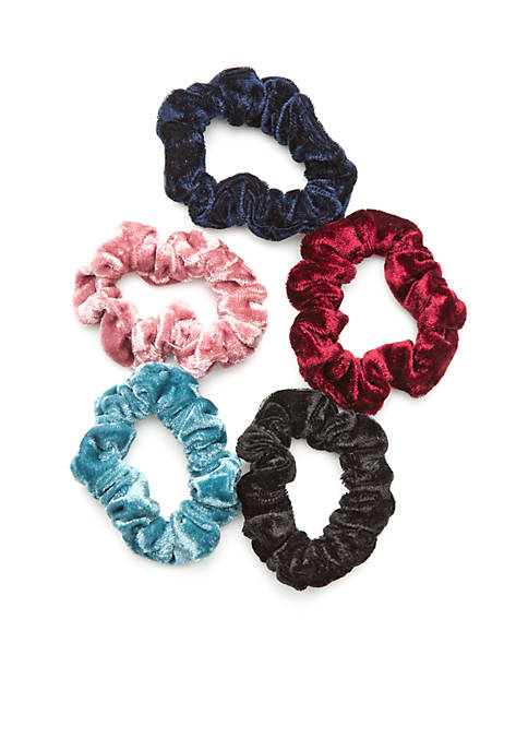 TRUE CRAFT Stretch Velvet Twister Scrunchies