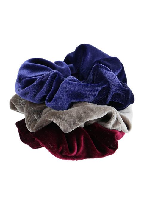 Set of 3 Solid Velvet Hair Twisters