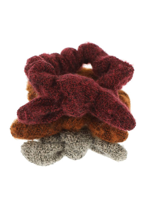 TRUE CRAFT Set of 3 Boucle Fabric Knotted