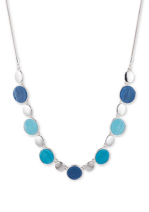 Silver Tone Frontal Necklace