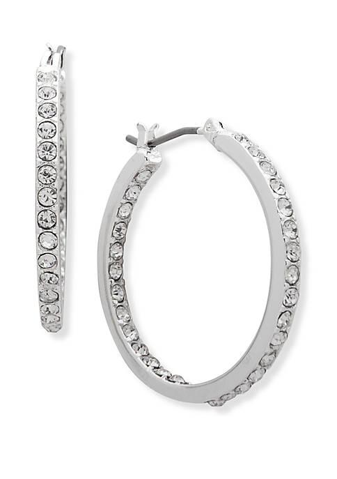 Crystal Inside Out Hoop Earrings