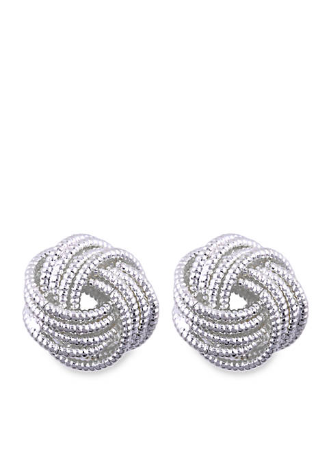Knot Button Earring