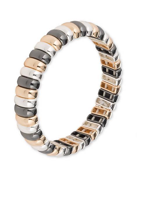 Tri-Tone Boxed Stretch Bracelet
