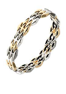 Tri-Tone Stretch Boxed Bracelet