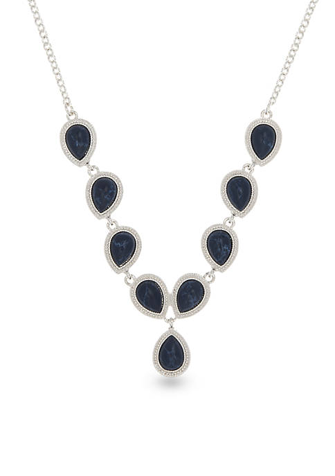 Silver-Tone NW Denim Basics Gem Chain Necklace