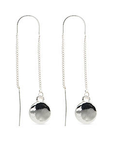 Nine West Silver-Tone Metallic Radiance Threader Earrings