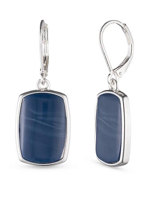 Nine West Silver-Tone Large Drop Earrings