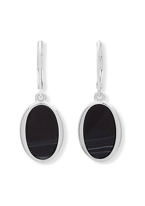Nine West Oval Opulence Drop Earrings