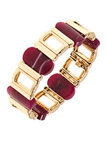 Gold-Tone Stretch Bracelet