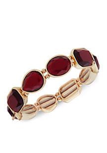 Gold-Tone Stretch Stone Bracelet
