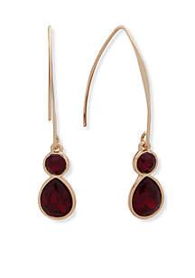 Gold-Tone Threader Earrings