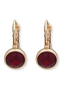 Gold-Tone Lever Back Drop Earrings