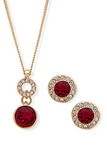Boxed 3-Piece Necklace and Earring Set
