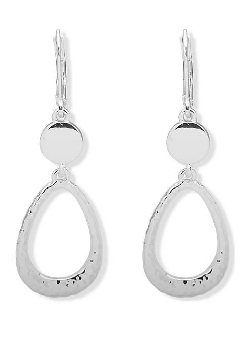 Lever Back Double Drop Earrings