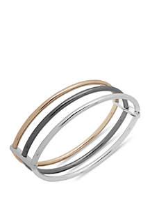 Nine West Boxed Tri Tone Metal Stretch Bracelet