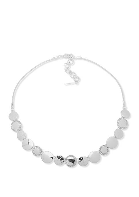 Nine West Silver Tone Frontal Necklace