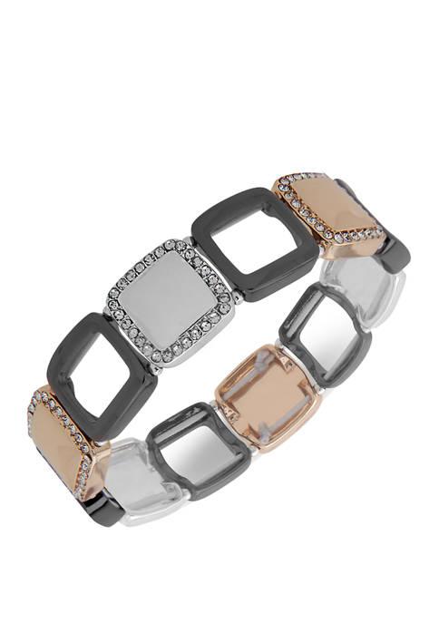 Tri Tone Stretch Bracelet
