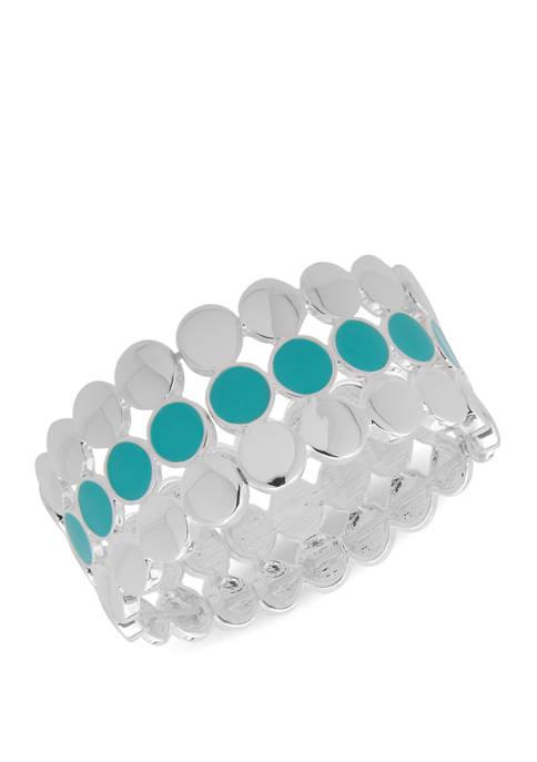 Metal Wide Circle Stretch Bracelet