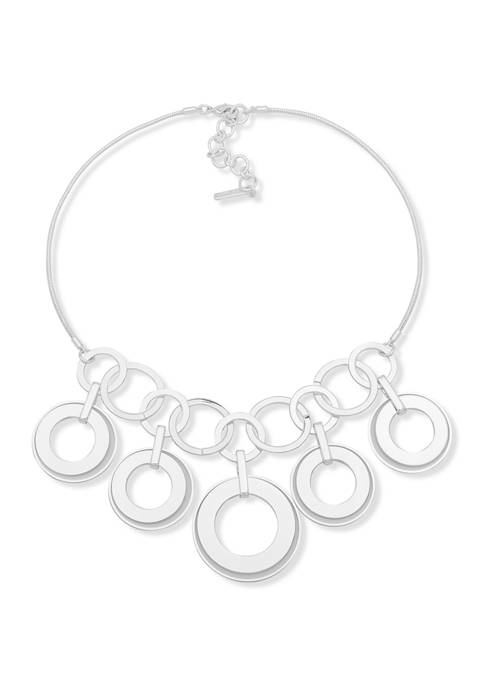 Metal Ring Frontal Necklace