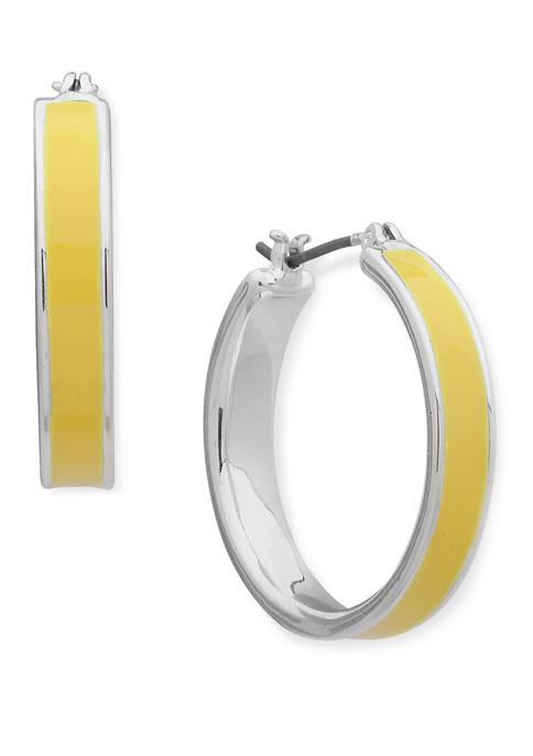 Metal Medium Hoop Earrings