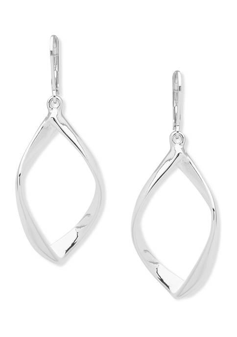 Silver Tone Open Drop Earrings
