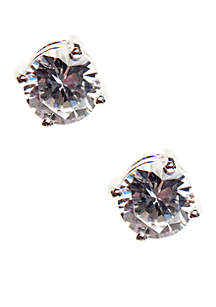 Genuine Cubic ZIrconia Stud Earring