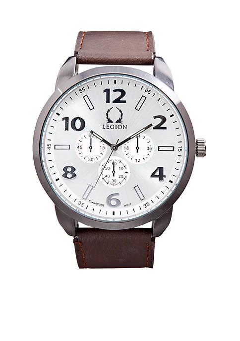 Legion Imitation Leather Chrono Watch