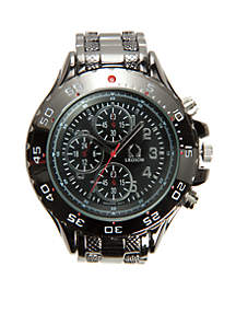 Men's Imitation Chronograph Gunmetal Watch