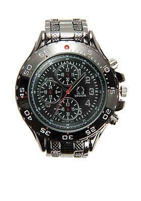 e0d7c9b5c28 Legion Men s Imitation Chronograph Gunmetal Watch ...