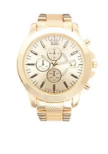 Men's Gold-Tone Chronograph Watch