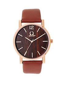 Men's Wood Dial Watch