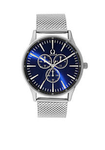 Men's Silver-Tone Mesh Watch