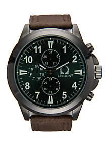 Textured Strap Gunmetal Watch