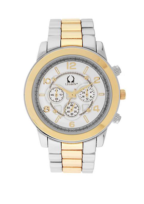 2 Tone Chronograph Watch